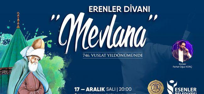 Erenler Divanı-Vuslatın 746. Yıl dönümünde Mevlana