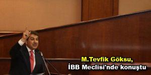 Göksu, İBB Meclisi'nde konuştu