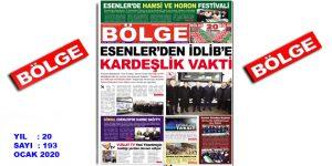"""BÖLGE GAZETESİ """"OCAK"""" SAYISI ÇIKTI!.."""