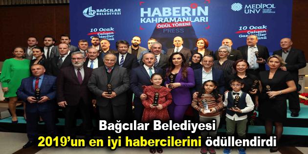 Bağcılar Belediyesi 2019'un en iyi habercilerini ödüllendirdi