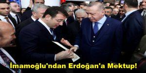 İmamoğlu, Erdoğan'a Kanal İstanbul'la ilgili bir mektup verdi