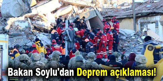 Bakan Soylu'dan Deprem açıklaması!