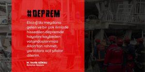 Deprem taziye mesajı-Esenler Belediyesi