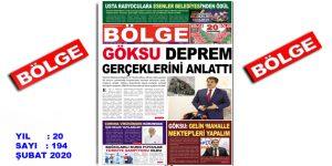 """BÖLGE GAZETESİ """"ŞUBAT"""" SAYISI ÇIKTI!.."""
