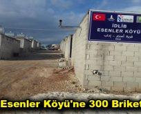 İdlib Esenler Köyü'ne 300 Briket Ev