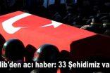 İdlib'den acı haber: 33 Şehidimiz var!