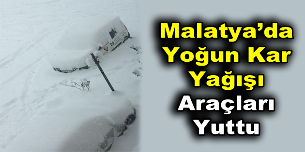 Malatya'da Yoğun Kar Yağışı