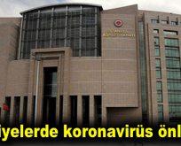 Adliyelerde koronavirüs önlemi
