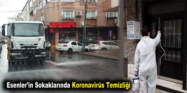 Esenler'in sokaklarında koronavirüs temizliği