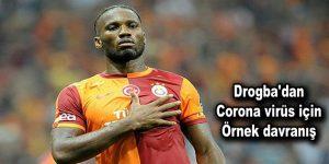 Drogba'dan corona virüs için örnek davranış