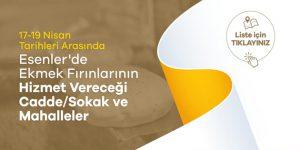 Esenler'de Hizmet verecek ekmek fırınları
