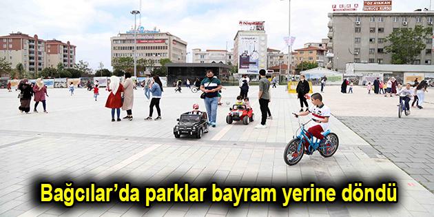 Bağcılar'da parklar bayram yerine döndü