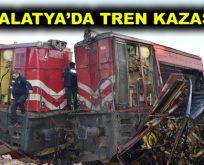 Malatya'da trenler çarpıştı!