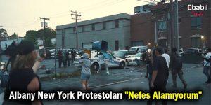 "Albany New York Protestoları ""Nefes Alamıyorum"""