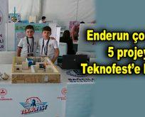 Enderun çocuklar, 5 projeyle Teknofest'e katılıyor