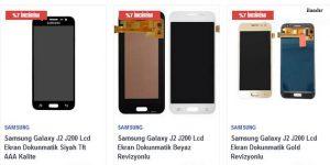 Samsung J2 Ekran Fiyatı Orjinal Ekran Telefon Parçası'nda