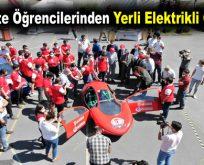 Üniversite öğrencilerinden yerli elektrikli otomobil