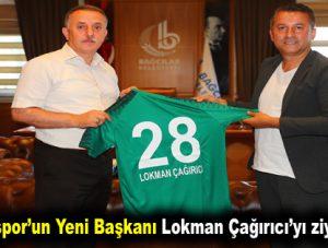 Giresunspor'un yeni başkanı Lokman Çağırıcı'yı ziyaret etti