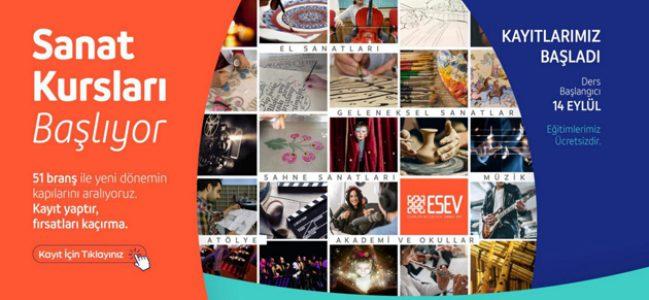 ESEV Sanat Kursları Başlıyor