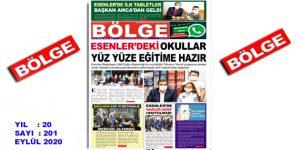 """BÖLGE GAZETESİ , YIL:20 , SAYI: 201 , """"EYLÜL"""" SAYISI ÇIKTI!.."""