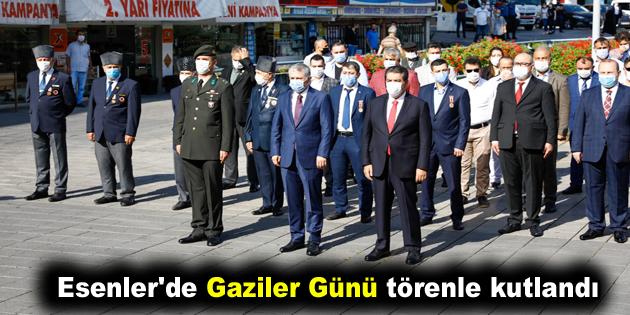 Esenler'de Gaziler Günü törenle kutlandı