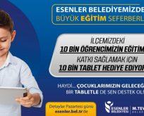 ESENLER BELEDİYESİ'NDEN EĞİTİME DEV DESTEK