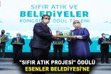 """""""SIFIR ATIK PROJESİ"""" ÖDÜLÜ ESENLER BELEDİYESİ'NE"""