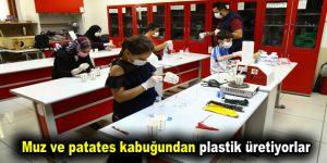 Muz ve patates kabuğundan plastik üretiyorlar
