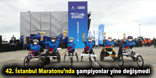 42. İstanbul Maratonu'nda şampiyonlar yine değişmedi