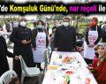 Esenler'de Komşuluk Günü'nde, nar reçeli ile kahvaltı