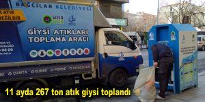 11 ayda 267 ton atık giysi toplandı
