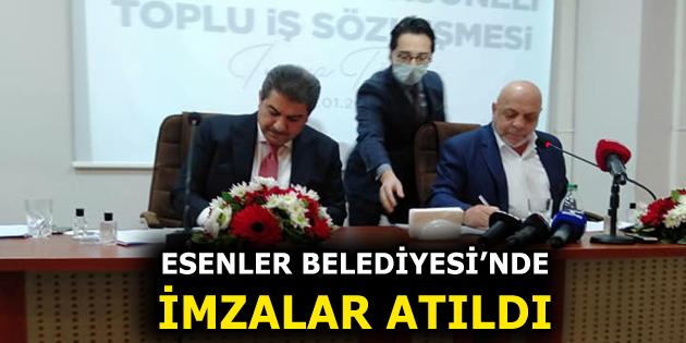 ESENLER BELEDİYESİ'NDE TOPLU SÖZLEŞME SEVİNCİ