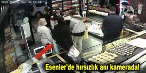Esenler'de hırsızlık anı kamerada!
