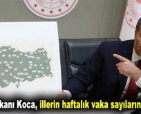 Sağlık Bakanı Koca, illerin haftalık vaka sayılarını paylaştı!