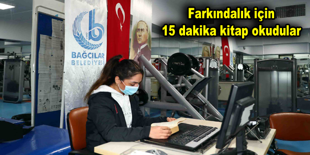 Bağcılar Belediyesi'nden 15 dakikalık kitap okuma etkinliği