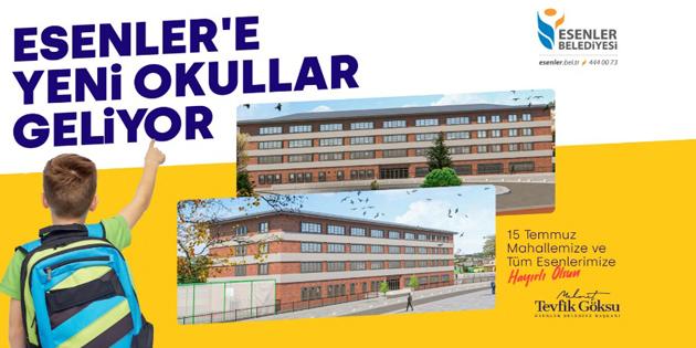 Esenler'e Yeni Okullar Geliyor!