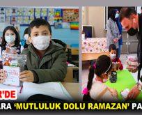 ÇOCUKLARA 'MUTLULUK DOLU RAMAZAN' PAKETLERİ