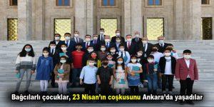 Bağcılarlı çocuklar, 23 Nisan'ın coşkusunu Ankara'da yaşadılar