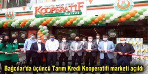 Bağcılar'da üçüncü Tarım Kredi Kooperatifi marketi açıldı