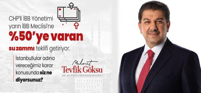 İBB'DEN SUYA ŞOK ZAM TEKLİFİ!