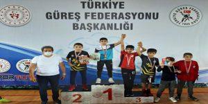 Serbest Güreş Şampiyonası'ndan Bağcılar'a madalya