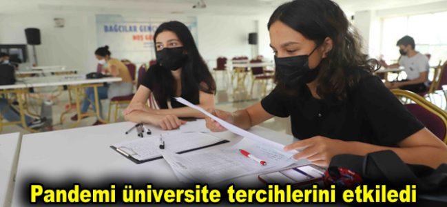 Pandemi üniversite tercihlerini de etkiledi