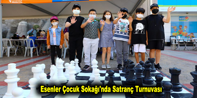 Esenler Çocuk Sokağı'nda Satranç Turnuvası