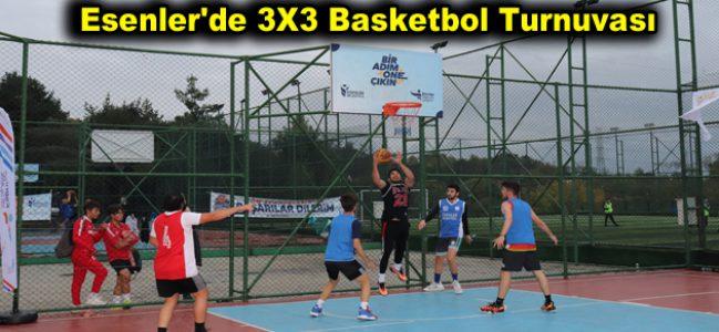 Esenler'de 3X3 Basketbol Turnuvası